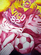 Carlos Velasquez Art - Pink Soccer