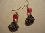 Pink Jewelry - Pink Spider Earrings by Jenna Green