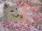 Fox Digital Art - Pink Spring by Scott Hovind