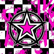 Star Digital Art Posters - Pink Star Checkerboard Poster by Roseanne Jones