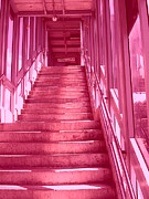 Shades Of Red Prints - Pink Steps Print by James McDowell