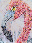 Pointillism Originals - Pink by Steve Teets