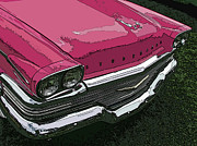 Pink Hot Rod Photos - Pink Studebaker Nose Study by Samuel Sheats
