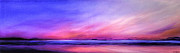 Jan Farthing Art - Pink sunrise. by Jan Farthing