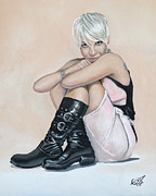 Singer  Paintings - Pink by Tom Carlton