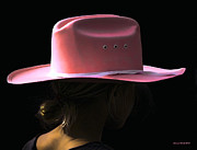 Cowboy Hat Mixed Media - Pink Too by Jerry L Barrett