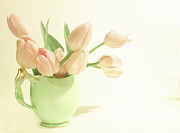 Margaret Hormann Bfa - Pink Tulips Green Jug