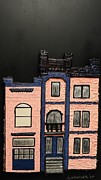 Robert Handler Art - Pink Victorian Mansion-Montreal by Robert Handler
