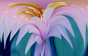 Digital Manipulation Framed Prints - Pink Water Lily Framed Print by Pat Exum