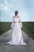 Jane Austen Posters - Pink Wedding Dress Poster by Joana Kruse