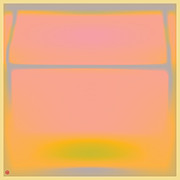 Grey Fine Art Prints - Pink Yellow and Grey Print by Gary Grayson