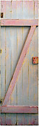 Found Object Art Sculptures - Pink Z Door by Asha Carolyn Young