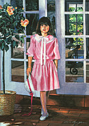 French Doors Posters - Pinkie Poster by David Lloyd Glover