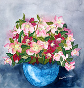 Signature Originals - Pinks in a Blue Bowl by Kimberlee Weisker