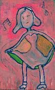 Blues Painting Originals - Pinky Dances to the Blues by Ricky Sencion