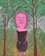 Shock Painting Originals - Pinky by Gregory Davis