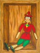 Puppet Paintings - Pinnocchio by Pamela Allegretto