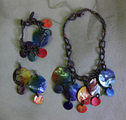 Wood Necklace Jewelry - Pinococo 11-001 sunset by Lyn Deutsch