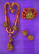 Wood Necklace Jewelry - Pinococo 11-066 by Lyn Deutsch