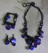 Wood Necklace Jewelry - Pinococo 11-392 Purple by Lyn Deutsch