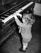 Problems Prints - Pint Size Pianist Print by Fred Morley