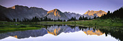 Pioneer Scene Prints - Pioneer Basin Morning Panorama Print by Buck Forester