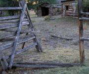 Old Cabins Photos - Pioneer Cabins by Leland Howard