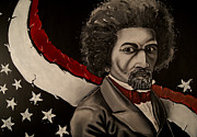 Frederick Douglass Painting Metal Prints - Pioneer of Fredom Metal Print by David Marion Green