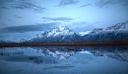 Sam Amato Prints - Pioneer Peak Reflections Print by Sam Amato