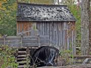 Pioneer Water Mill Print by DigiArt Diaries by Vicky B Fuller