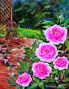 Roxana Paul - Pionies in old garden