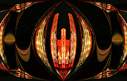 Abstract Music Digital Art - Pipe Organ Abstract by Kristin Elmquist