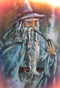The Lord Of The Ring Painting Framed Prints - Pipe weed Framed Print by Joe Gilronan