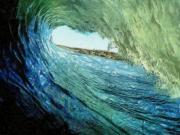 Wave Drawings - Pipeline by Murphy Elliott