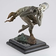 Sports Sculptures - Piper Draped quater life by Richard MacDonald