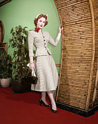 1950s Fashion Photo Metal Prints - Piper Laurie, 1950s Metal Print by Everett
