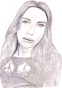 Graphite Art Drawings - Piper Perabo by Jose Valeriano