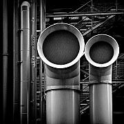 Industry Framed Prints - Pipes Framed Print by David Bowman