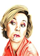 Sitcom Posters - Pippa Haywood plays Joanna Clore from Green Wing Poster by Margaret Sanderson