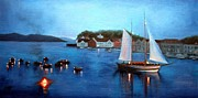 Farsund Seascape Prints - Pirate Battle Print by Janet King