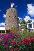 Charlotte Amalie Prints - Pirate Castle Tower Print by George Oze