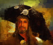 Buccaneer Painting Prints - Pirate Print by Clarence Alford