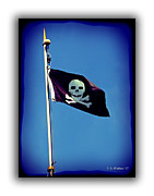Identification Symbol Framed Prints - Pirate Flag Framed Print by Brian Wallace