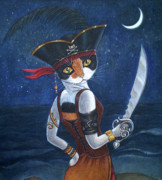 Buccaneer Painting Prints - Pirate Queen Print by Fairy Tails Portraits