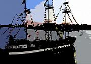 Pirate Ship Art - Pirate ship by David Lee Thompson