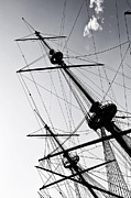 Masts Posters - Pirate Ship Poster by Joana Kruse