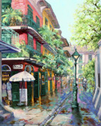 New Orleans Artist Paintings - Pirates Alley by Dianne Parks