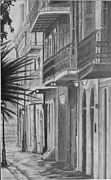 Pirate Drawings - Pirates Alley by Ralph Duncan