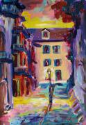 Vieux Carre Painting Originals - Pirates Allry New Orleans by Saundra Bolen Samuel