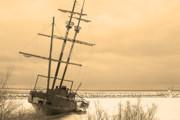 Pirates In The Harbour Print by DebraLee Wiseberg